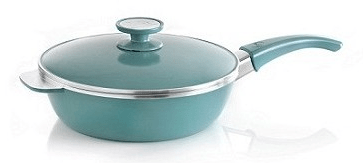 sartén essen 24 cm aqua. color celeste de aluminio fundido, antiadherente. ideal para realizar recetas essen