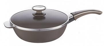 sarten essen 24 cm terra. color gris oscuro con baño antiadherente. la mejor olla del mundo para realizar recetas con vegetales y carnes